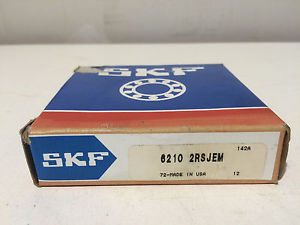 NIB SKF 6210 2RSJEM Single Row Sealed Ball Bearing 50mm Bore