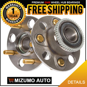 2 New Rear Left and Right Wheel Hub Bearing Assembly w/ Tone Ring GMB 735-0109