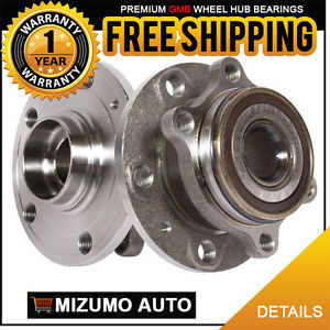 2 New Front Left and Right Wheel Hub Bearing Assembly Pair w/ ABS GMB 780-0327