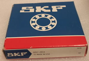 SKF 6017-2RS1 Rubber Sealed Deep Groove Ball Bearing 85x130x22mm