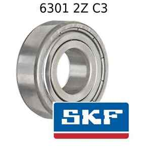 6301 2Z C3 Genuine SKF Bearings 12x37x12 (mm) Sealed Metric Ball Bearing 6301-ZZ