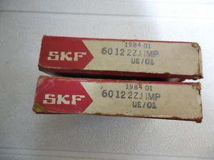 SKF 6012 2JZ IMP UE/01 new lot of two bearings