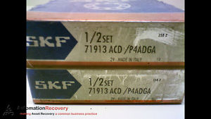 SKF 71913ACD/P4ADGA – PACK OF 2 – SUPER PRECISION BEARING, NEW #173206