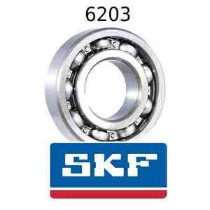 6203 Genuine SKF Bearings 17x40x12 (mm) Open Metric Ball Bearing Opened