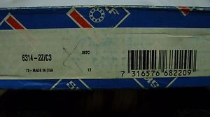 SKF / FAG – 70 x 150 x 35 SHIELDED DEEP GROOVE ROLLER BEARING 6314-2Z/C3 *NOS*