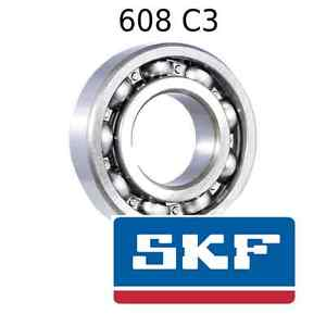 608 C3 Genuine SKF Bearings 8x22x7 (mm) Open Metric Ball Bearing Opened