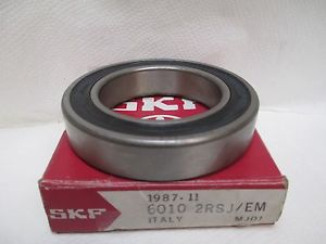 NEW SKF DEEP GROOVE DOUBLE SEALED BALL BEARING 6010-2RSJ/EM 6010-2RS1