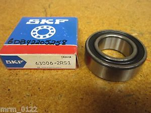SKF 63006-2RS1 BALL BEARING 29.51X55.11X19.02MM NEW