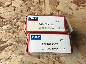 2-SKF ,Bearings#305802 C-2 Z,30day warranty, free shipping lower 48!
