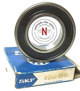 SKF 6210-2RS1 C3 DOUBLE SEAL, DEEP-GROOVE BEARING 50mm x 90mm x 20mm