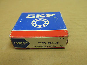 NIB SKF 7205 BECBY ANGULAR CONTACT 7205BECBY NEW