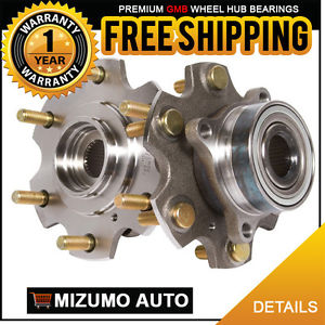 2 New Front Left and Right Wheel Hub Bearing Assembly Pair w/o ABS GMB 748-0348
