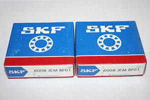 (Lot of 2) SKF 6008-JEM BF01 Deep Groove Bearings (108 , 9108)   * NEW *