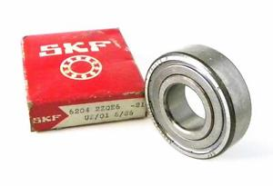NEW SKF 6204-2ZQE6 SHIELDED BALL BEARING 20 MM X 47 MM X 14 MM (2 AVAILABLE)