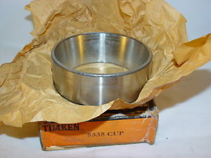 "Timken 5335 Tapered Roller Bearing, Single Cup 4.0625"" OD, 1.4375"" Width"