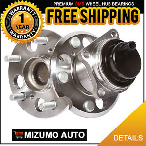 2 New Rear Left and Right Wheel Hub Bearing Assembly Pair w/ ABS GMB 770-0251