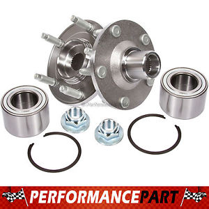 2 New GMB Front Left and Right Wheel Hub Bearing Assembly Pair w/o ABS 799-0176