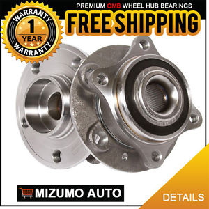 2 New Front Left and Right Wheel Hub Bearing Assembly Pair w/o ABS GMB 799-0211