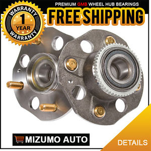 2 New Rear Left and Right Wheel Hub Bearing Assembly w/ Tone Ring GMB 735-0234