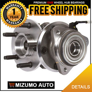 2 New Front Left and Right Wheel Hub Bearing Assembly Pair w/ ABS GMB 725-0071