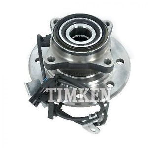 TIMKEN Wheel Bearing & Hub Assembly Front 4WD for 8 Lug Wheels Driver Side