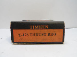 NEW TIMKEN TAPERED ROLLER BEARING T126 GM 446006 WHITE OLIVER FREE SHIPPING