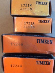 Timkin Bearings 17118 317118With Race 17244 Lot Of 2 Sets New In Box