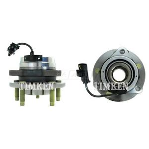 Front Wheel Hub & Bearing Pair Set TIMKEN for Chevy w/ABS