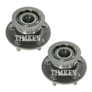 TIMKEN Wheel Bearing & Hub Assembly Rear Pair Set for Villager Quest ABS NEW