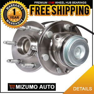 2 New Front Left and Right Wheel Hub Bearing Assembly Pair w/ ABS GMB 730-0261