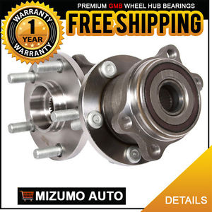 2 New Rear Left and Right Wheel Hub Bearing Assembly Pair w/ ABS GMB 760-0010