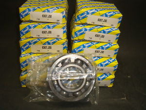 NEW SNR SINGLE ROW BALL BEARING, 6307.J30, NEW IN BOX