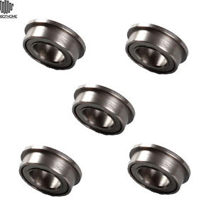 5PCS MF74zz Mini Metal Double Shielded Flanged Ball Bearings (4mm*7mm*2.5mm)