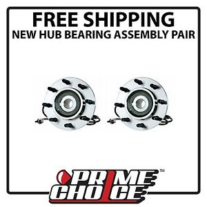 Pair of 2 New Front Wheel Hub Bearing Assembly Units for Dodge Ram 2500 Ram 3500