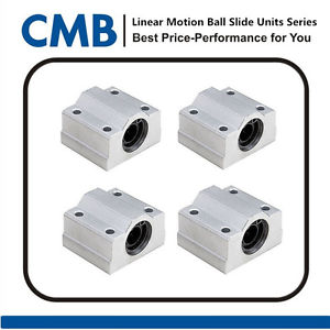 4pcs SC10UU SCS10UU Linear Ball Bearing Slide Unites Motion Bearing 10mm ID New