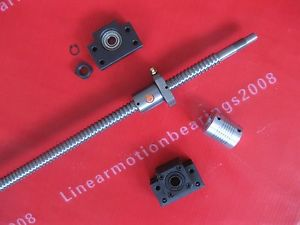 1 antibacklash ballscrew ball screw 1605-700mm-C7+BK12 BF12 +1 coupling for CNC