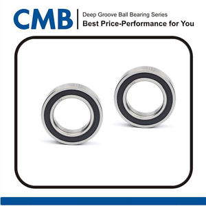 2pcs 6901-2RS Rubber Sealed Ball Bearing Bearings 12 x 24 x 6mm