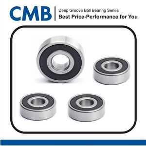 4PCS 6206-2RS Rubber Sealed Ball Bearing 6206-2rs 30x62x16mm Brand New