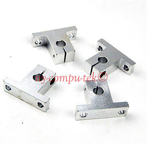 New 4pcs 8mm SK8 Bearing CNC Aluminum Linear Rail Shaft Guide Support US Seller