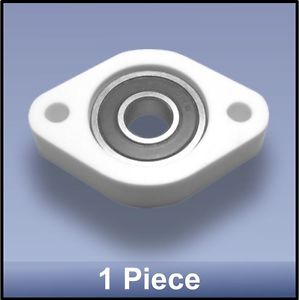 Compact Quality CNC 10mm 2 Bolt Oval Block Flange Bearing Block – 1 piece