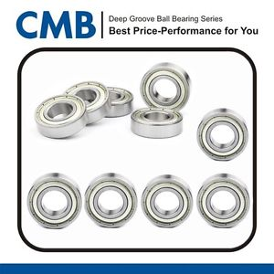 (Qty.10) 6006-2Z 6006ZZ Metal Shielded Deep Groove Ball Bearing 30 x 55 x 13mm