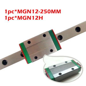 MGR12-250MM Linear Rail Guide MGN12 And A MGN12H Linear Block Carrige Miniature