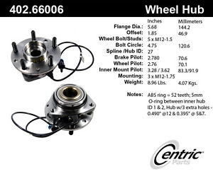 Axle Wheel Bearing And Hub Assembly-Premium Axle Bearing & Hub Assembly Front