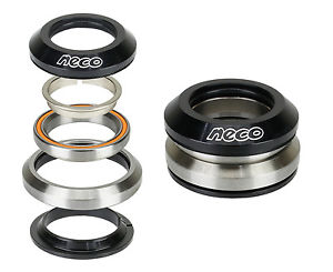 """Bike CNC Integrated Taper Alloy Headset 1-1/8"""" 1-1/4"""" with Top 7.8mm Bearing"""