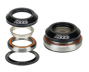 "NECO Bike CNC Taper Integrated AlloyHeadset 1-1/8"" 1-1/2"" with Top 7.8mm Bearing"