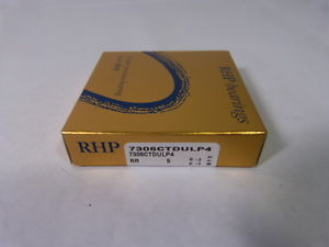 RHP 7306CTDULP4 Precision Angular Contact Bearing *Sealed* ! NEW IN BOX !