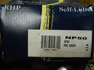 "NEW RHP SELF-LUBE PILLOW BLOCK BEARING NP50 2"" AR3P5 ………. WQ-02"