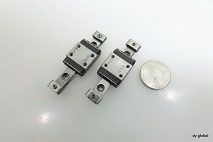 THK Miniature LM Guide Lot of 2 RSR7M+50L Tiny linear actuator bearing /W stoppe