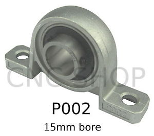 P002 15mm PILLOW BLOCK BOTTOM MOUNT BEARING SELF ALIGNING KP002 BLOCK CNC BALL