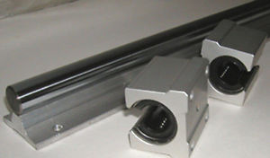 "CNC Supported Shaft 20mm 55"" an 2 Bearing Special $99"